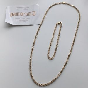 Jewelry - Inch of Gold necklace and bracelet 18k